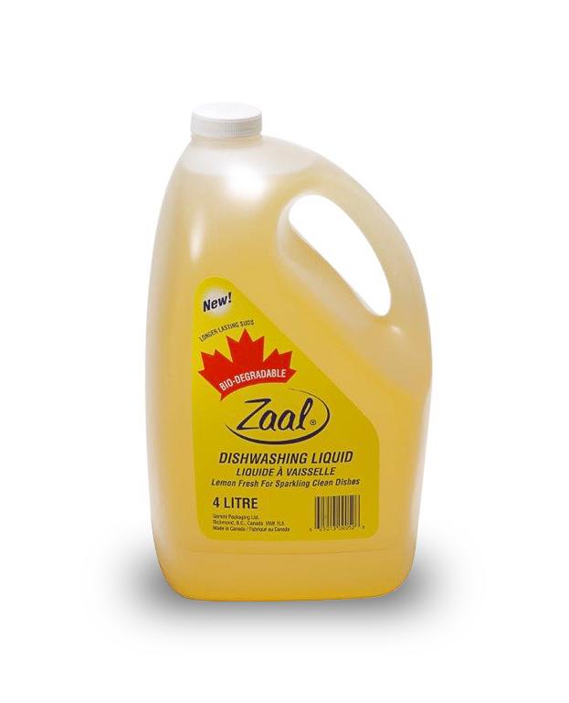 Zaal Lemon Dish Detergent 4L